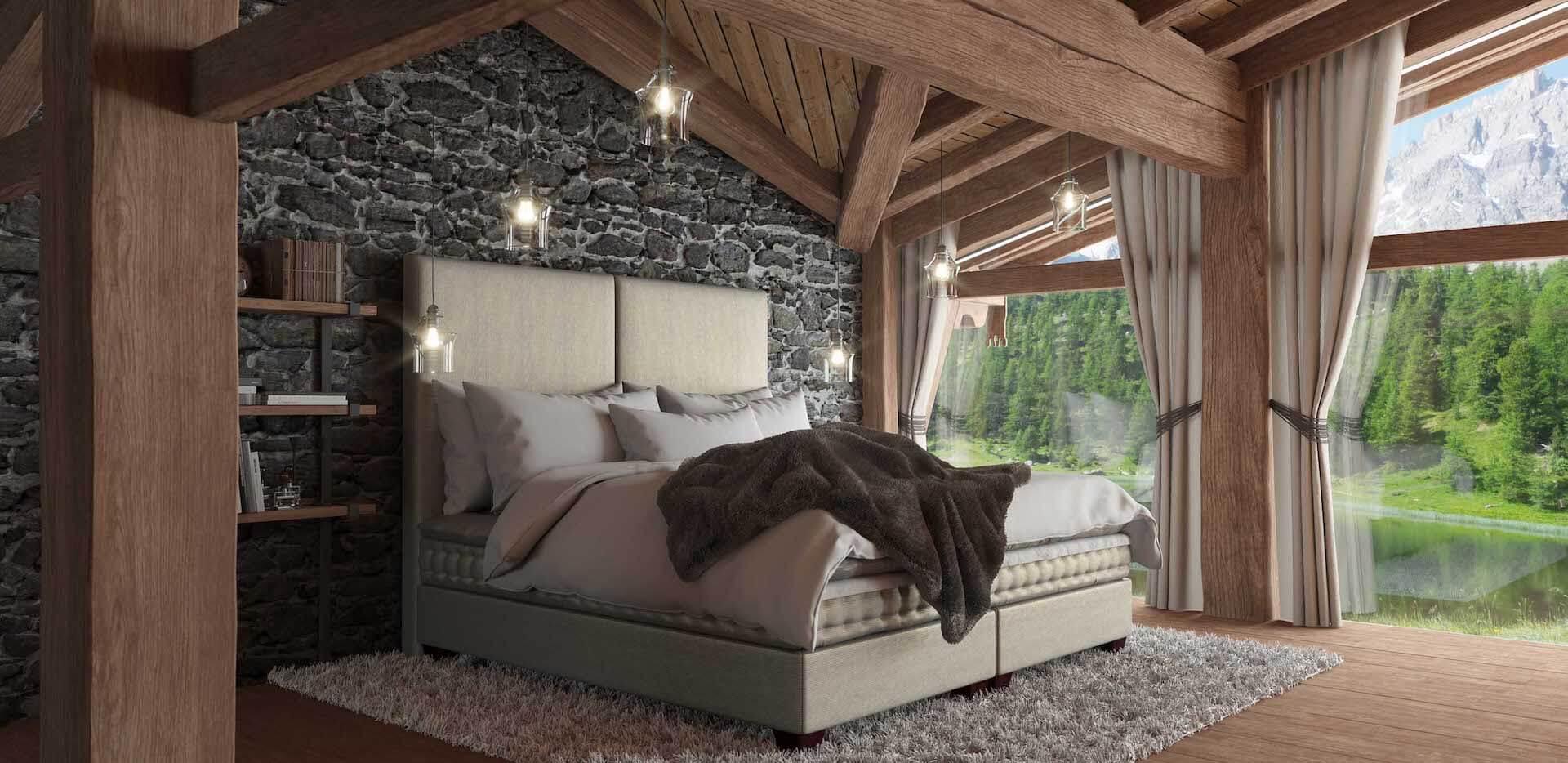 Kontinentální postele v luxusním provedení vám zaručí dokonalý odpočinek
